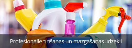 Profesionalie tirišanas un mazgašanas lidzakli