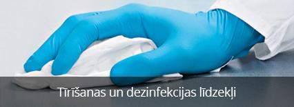 Tirīšanas un dezinfekcijas lidzekļi