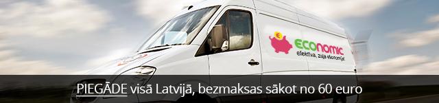 Piegāde visā Latvijā, bezmaksas sākot no 60 euro